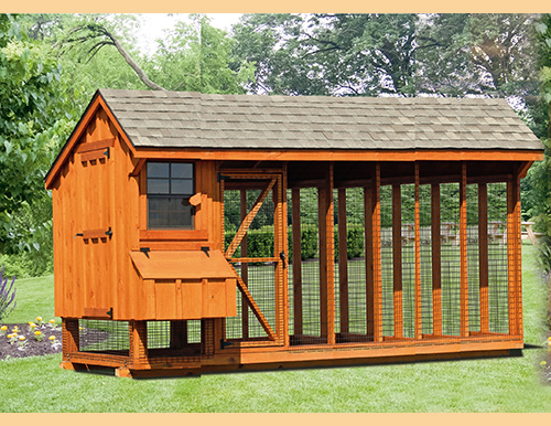Combination style chicken coops chicken coops in maryland for Chicken coop kits for 12 chickens