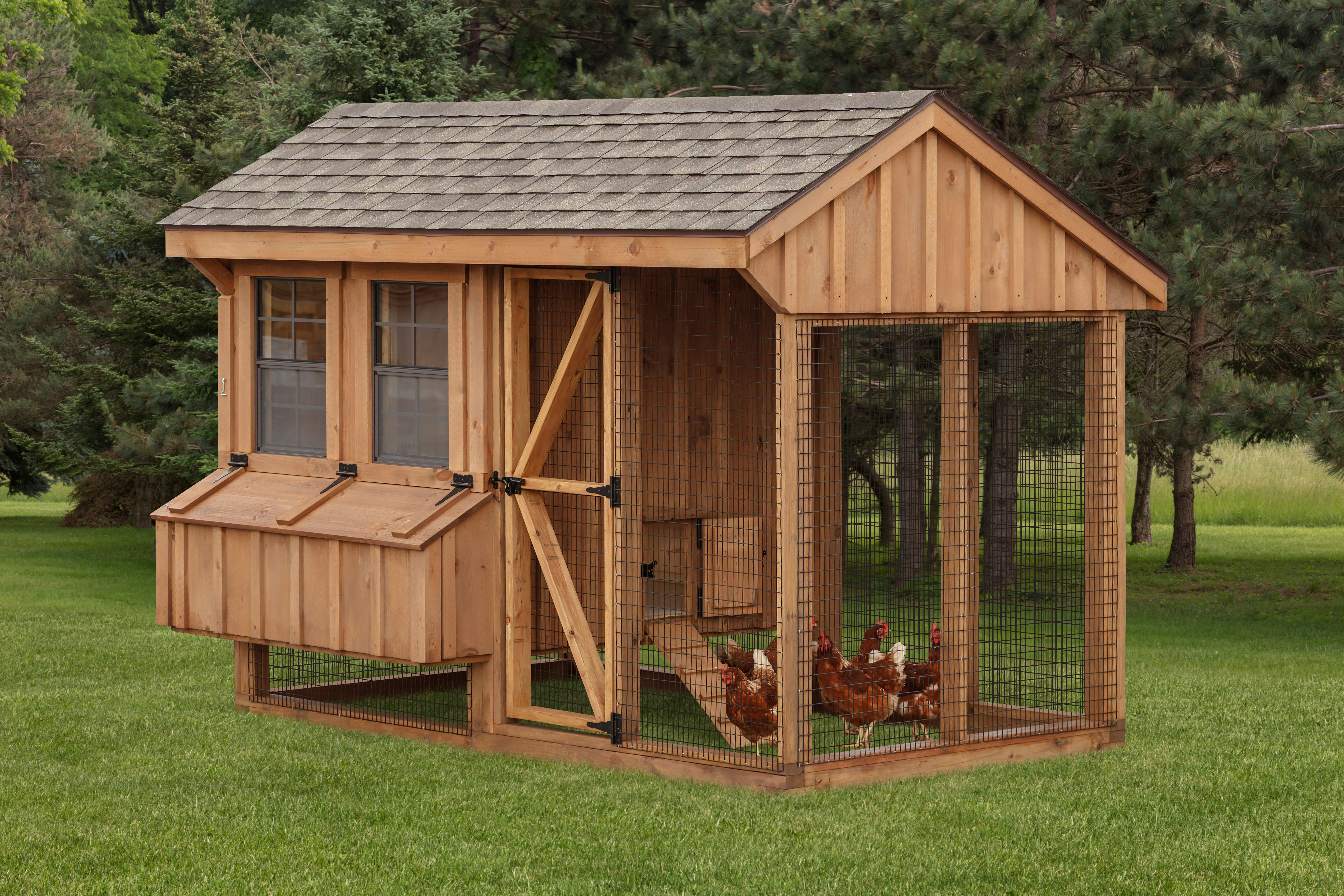 In stock chicken coops sale ready to ship buy amish for Chicken coop with run for 6 chickens
