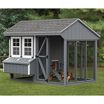 Back view of Quaker 6x10 Combination Chicken Coop