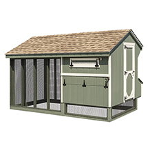 Back view of Quaker 7x12 Combination Chicken Coop