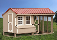 Large Combination Style Chicken Coops